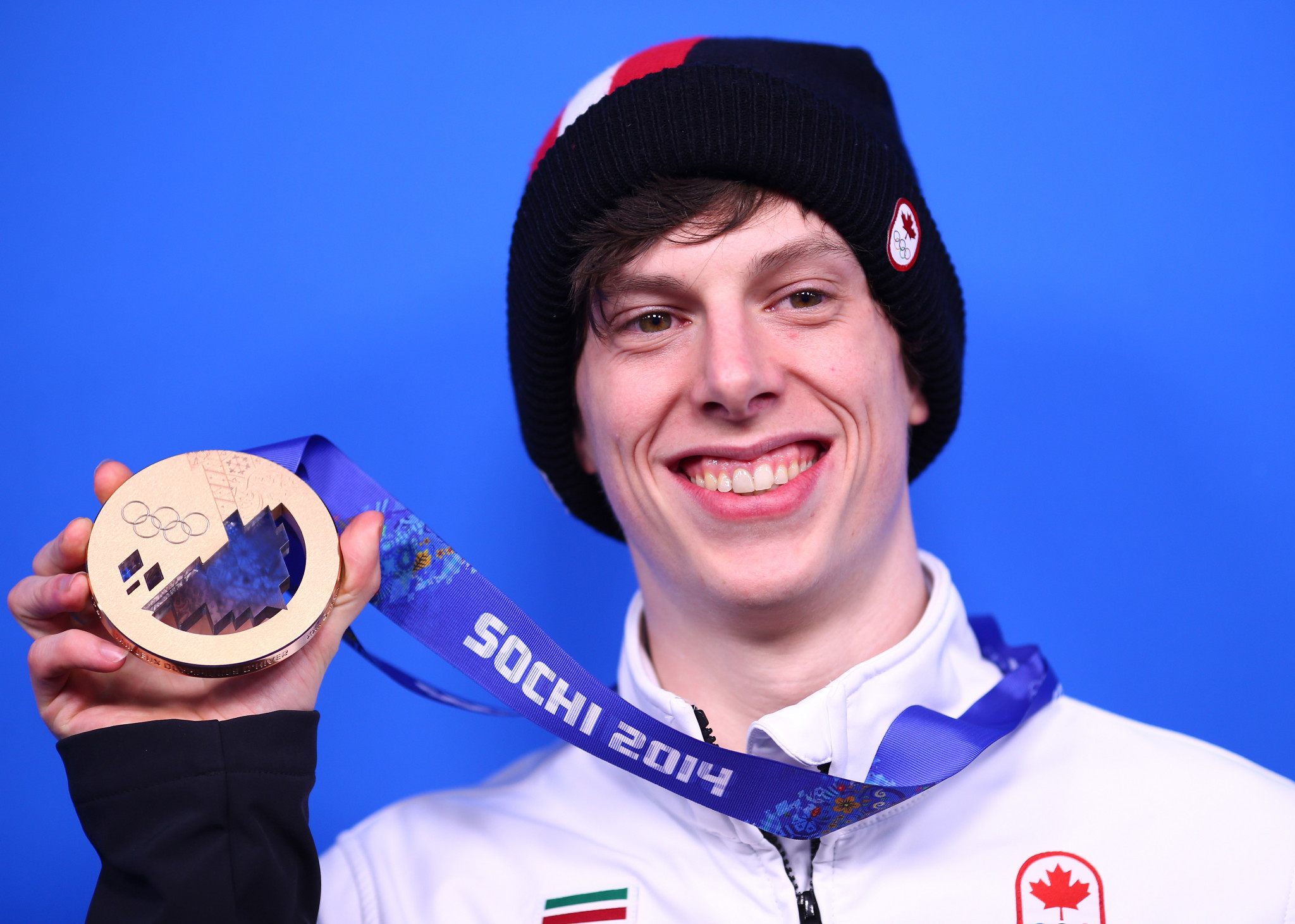 Charle Cournoyer won a surprise bronze medal over 500 metres at his first Winter Olympics in Sochi  ©Getty Images