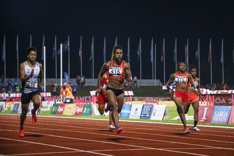 Toea Wisil sprinted to victory in the women's 100m ©Pacific Games News Service/Roland Setu