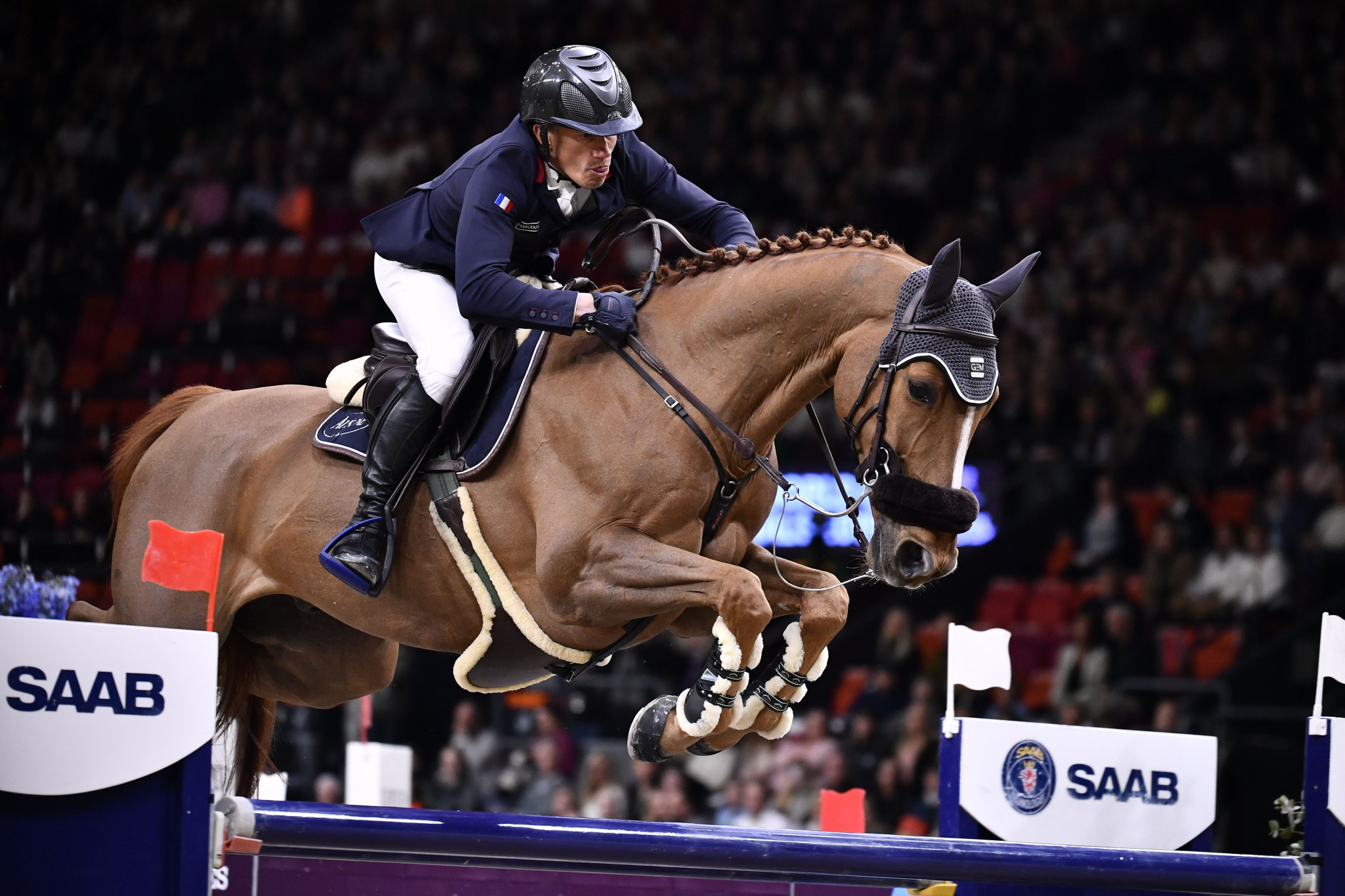 Frenchman Robert wins opening jumping competition at World Equestrian Festival in Aachen