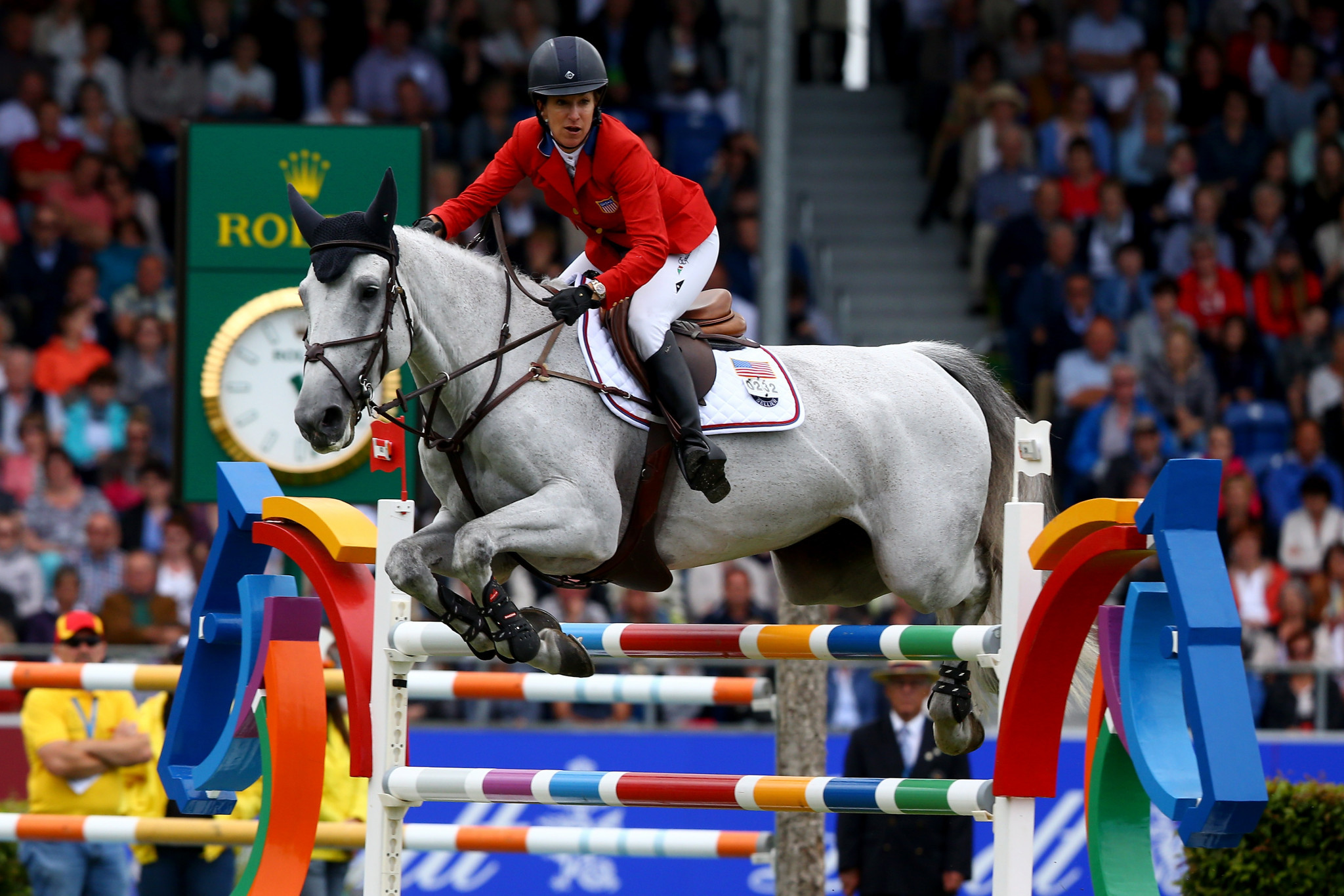 The United States' Laura Kraut had to settle for second place ©Getty Images