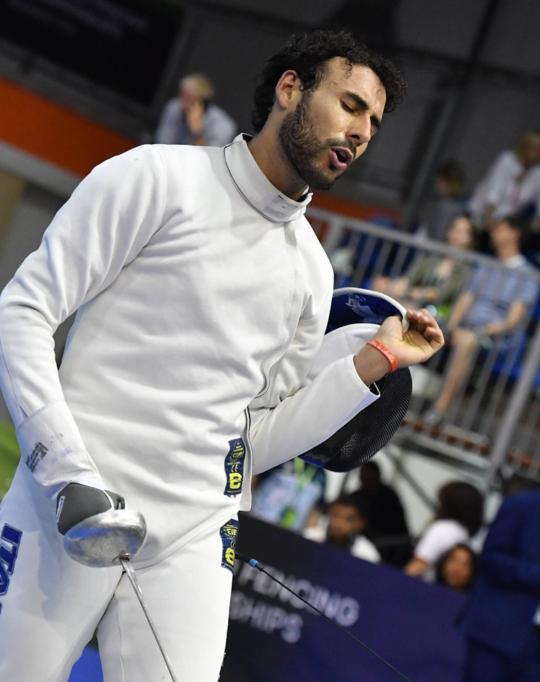 Italy's Marco Fichera secured his place in the last 64 of the men's épée event today ©#BizziTeam/FIE/Facebook