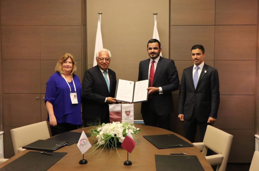 The host city contract for the Games was signed in June 2019 ©ANOC