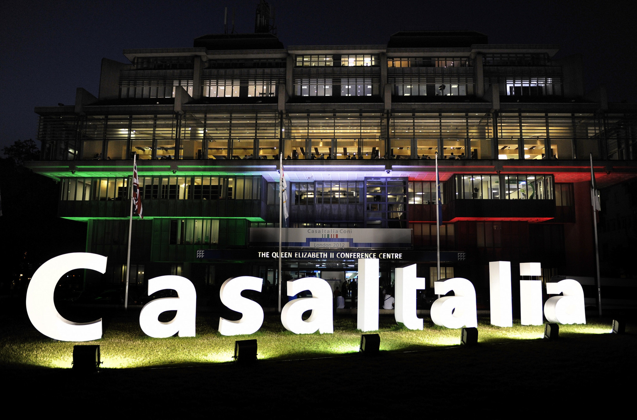 Casa Italia was based at the Queen Elizabeth Conference Centre during London 2012 ©Getty Images