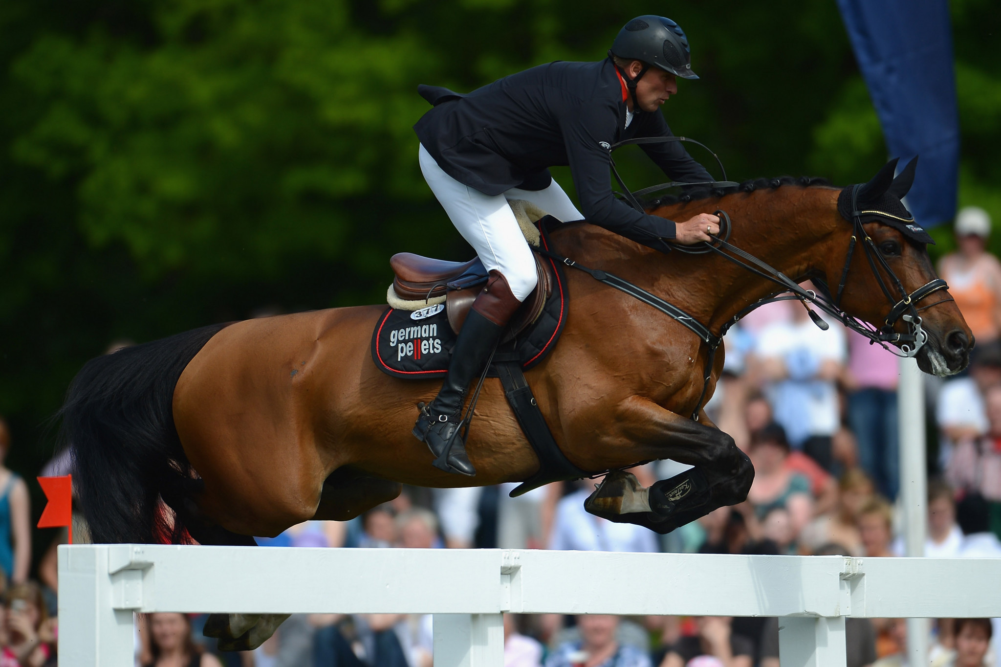 """Germany's André Thieme finished in second place in the """"Prize of Handwerk"""" jumping competition ©Getty Images"""