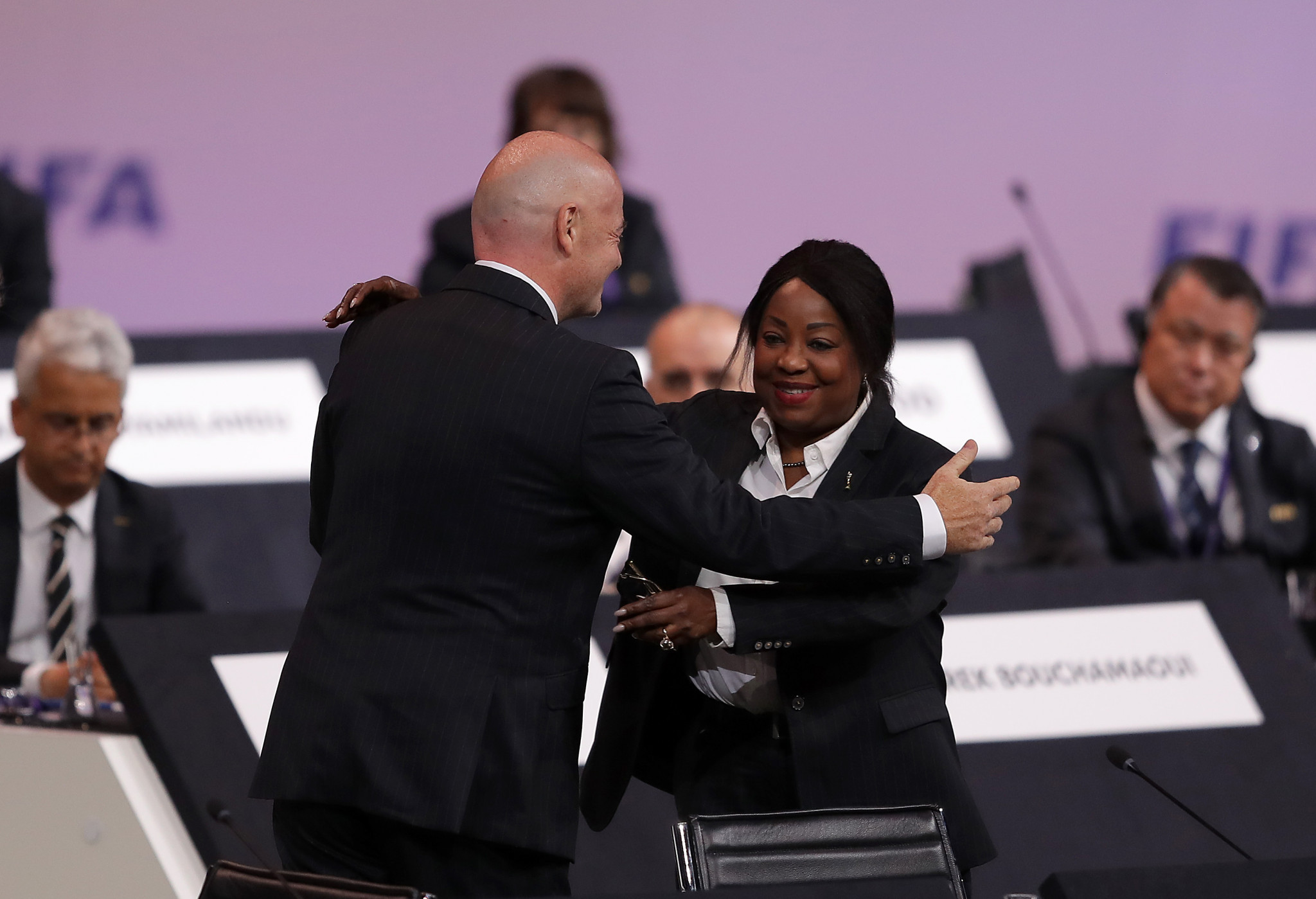 FIFA secretary general Fatma Samoura is set to take over the running of African football ©Getty Images