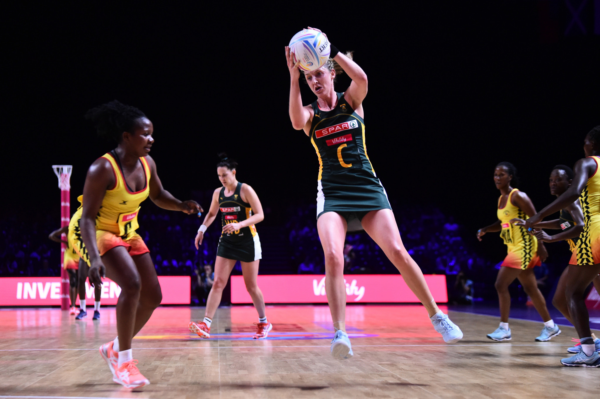 South Africa secured a last-four berth by beating Uganda 67-40 ©Getty Images