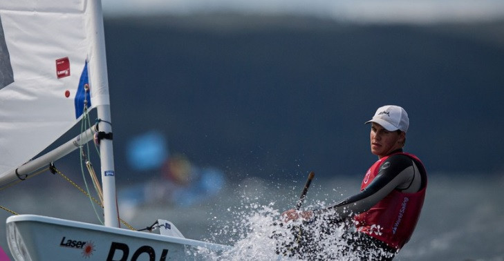 Home hope Butowski takes lead in laser radial at Youth Sailing World Championships