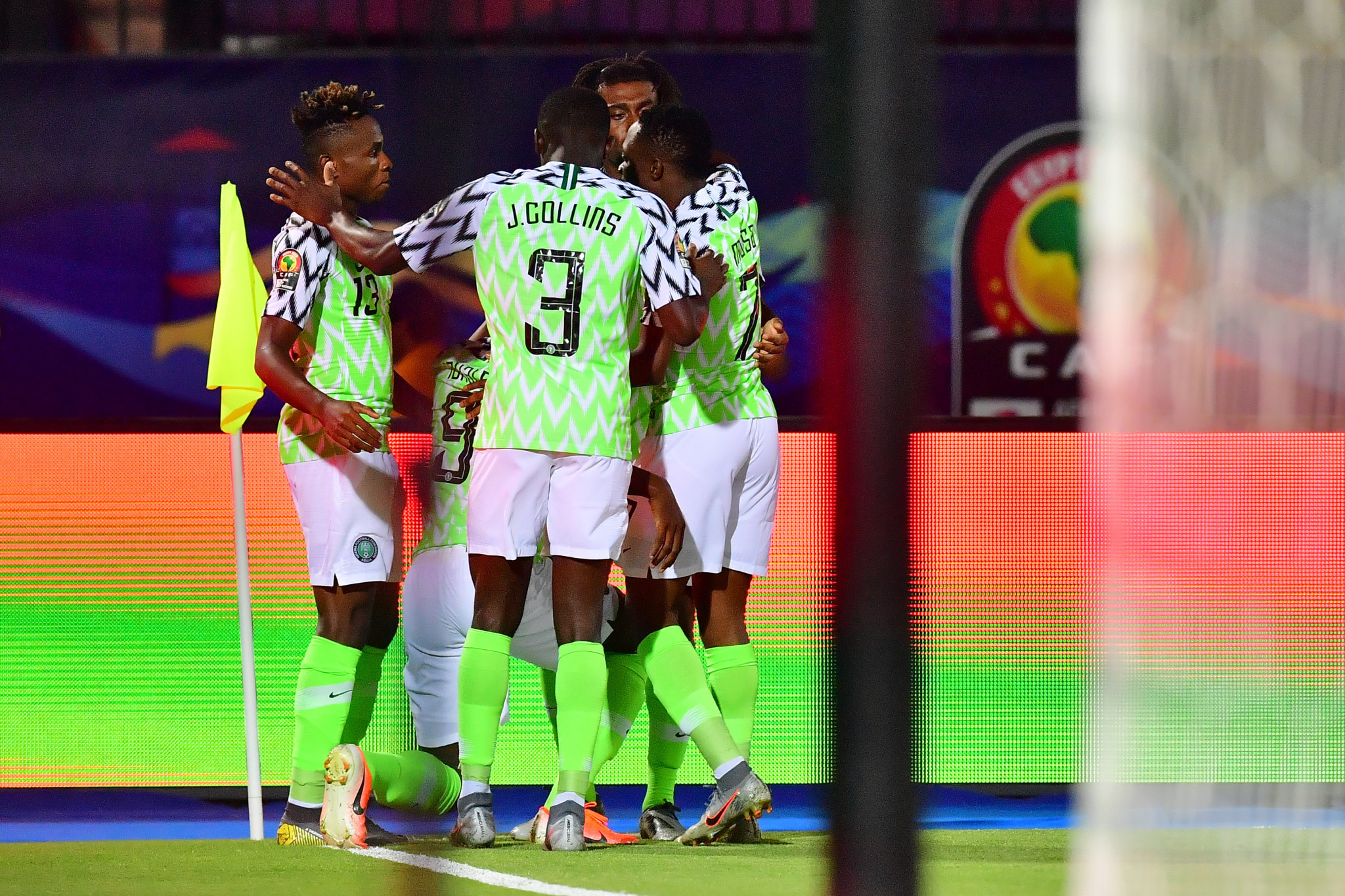 Nigeria's Odion Ighalo celebrates scoring the second-minute goal which gave Nigeria a 1-0 victory over Tunisia in the bronze medal playoff at the Africa Cup of Nations in Cairo ©Getty Images