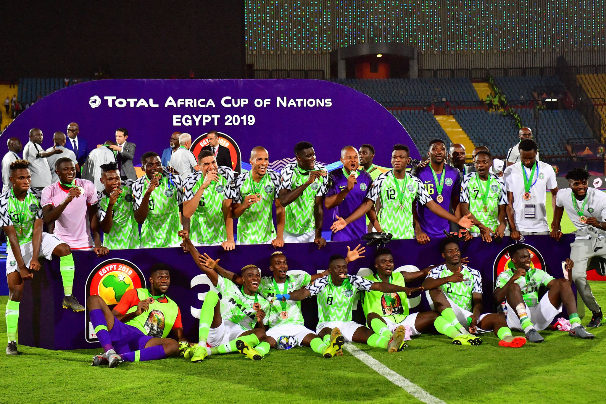 Nigeria were appearing in their eighth bronze medal playoff in the Africa Cup of Nations and maintained their remarkable record of having won on each occasion with their victory in Cairo ©Getty Images