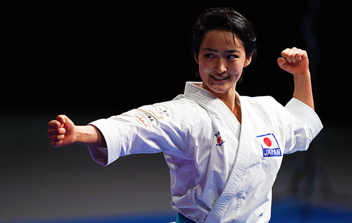 Japan's Kiyou Shimizu is the reigning Asian champion in the women's kata event ©WKF