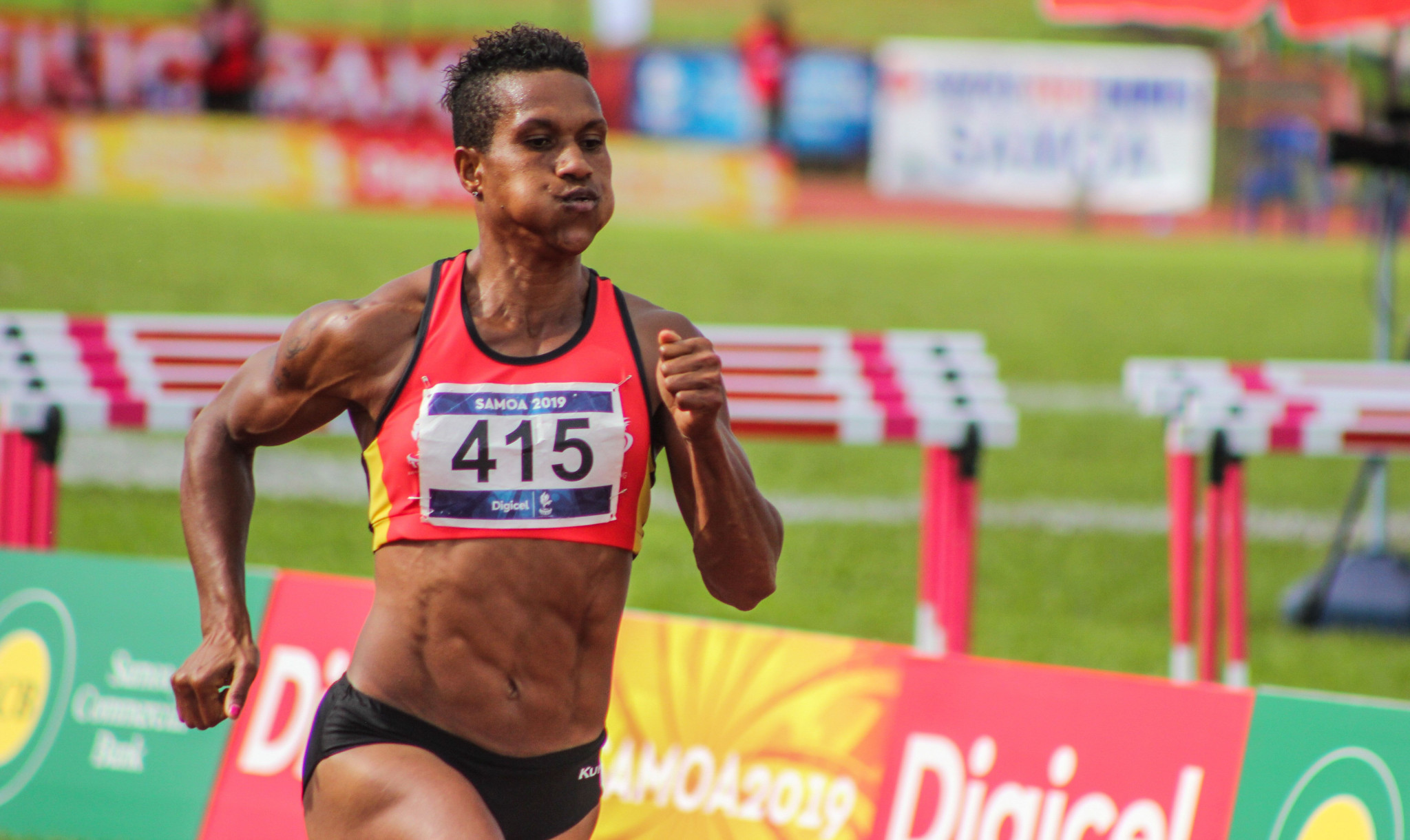 Wisil completes historic Pacific Games sprint triple-triple with 200m gold