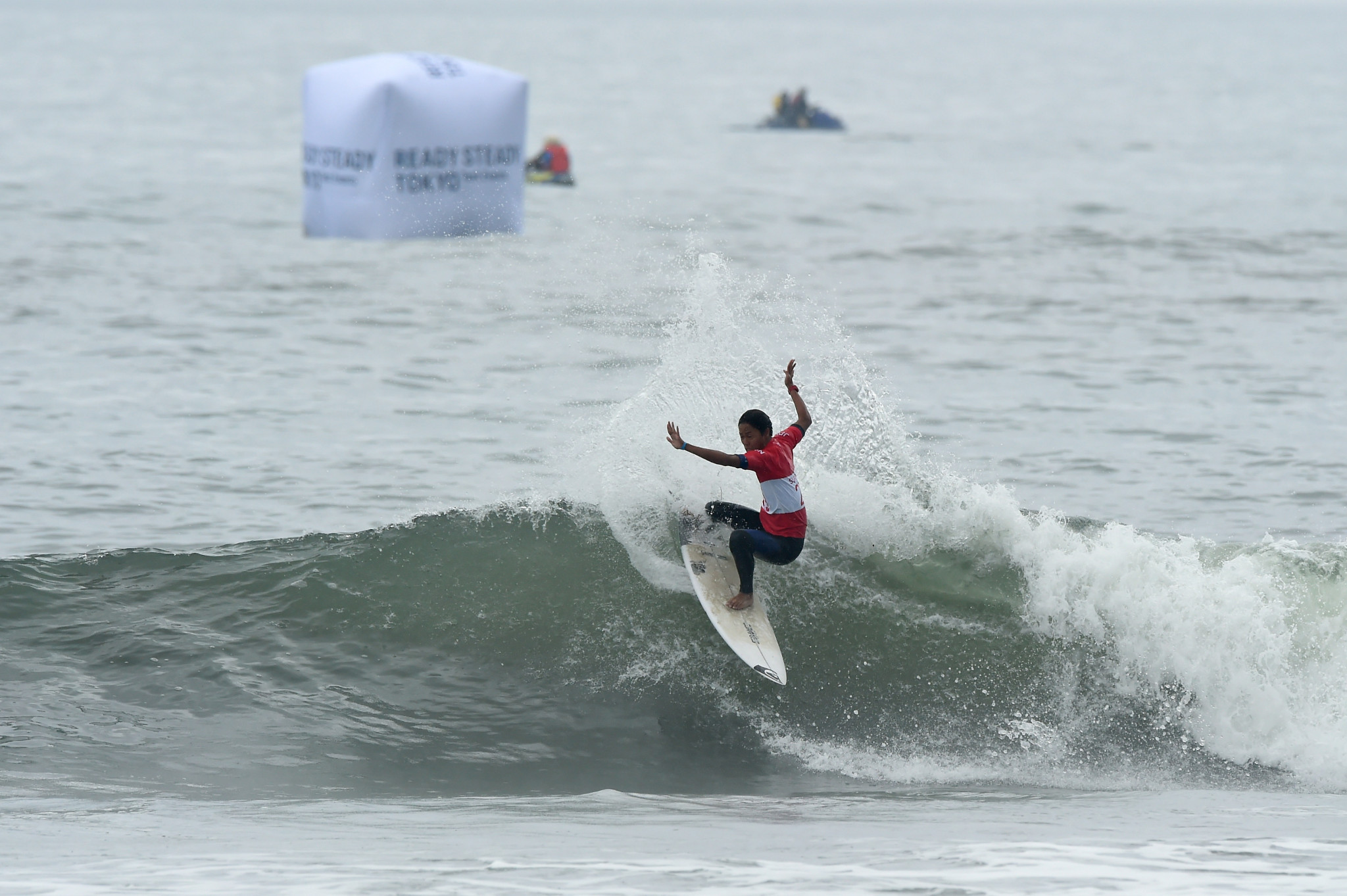 Some of the surfers admitted the waves on the first day of competition were small ©Getty Images