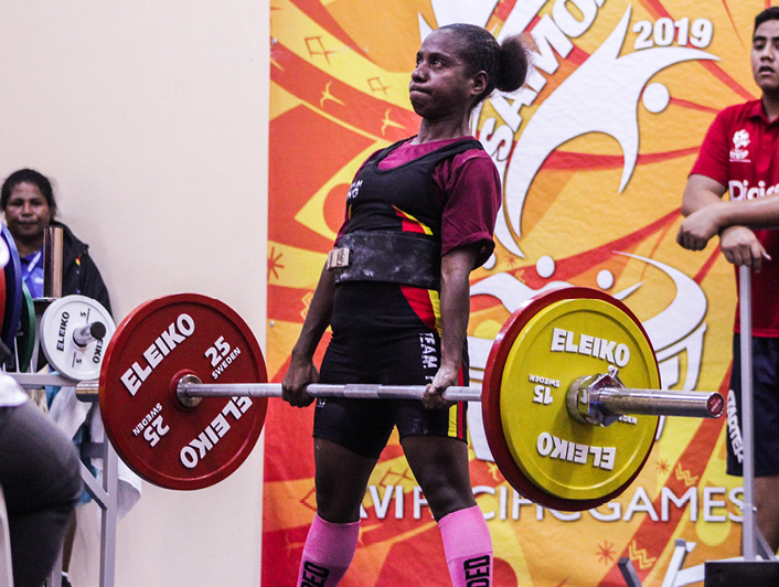 Papua New Guinea dominant in first powerlifting finals at Samoa 2019