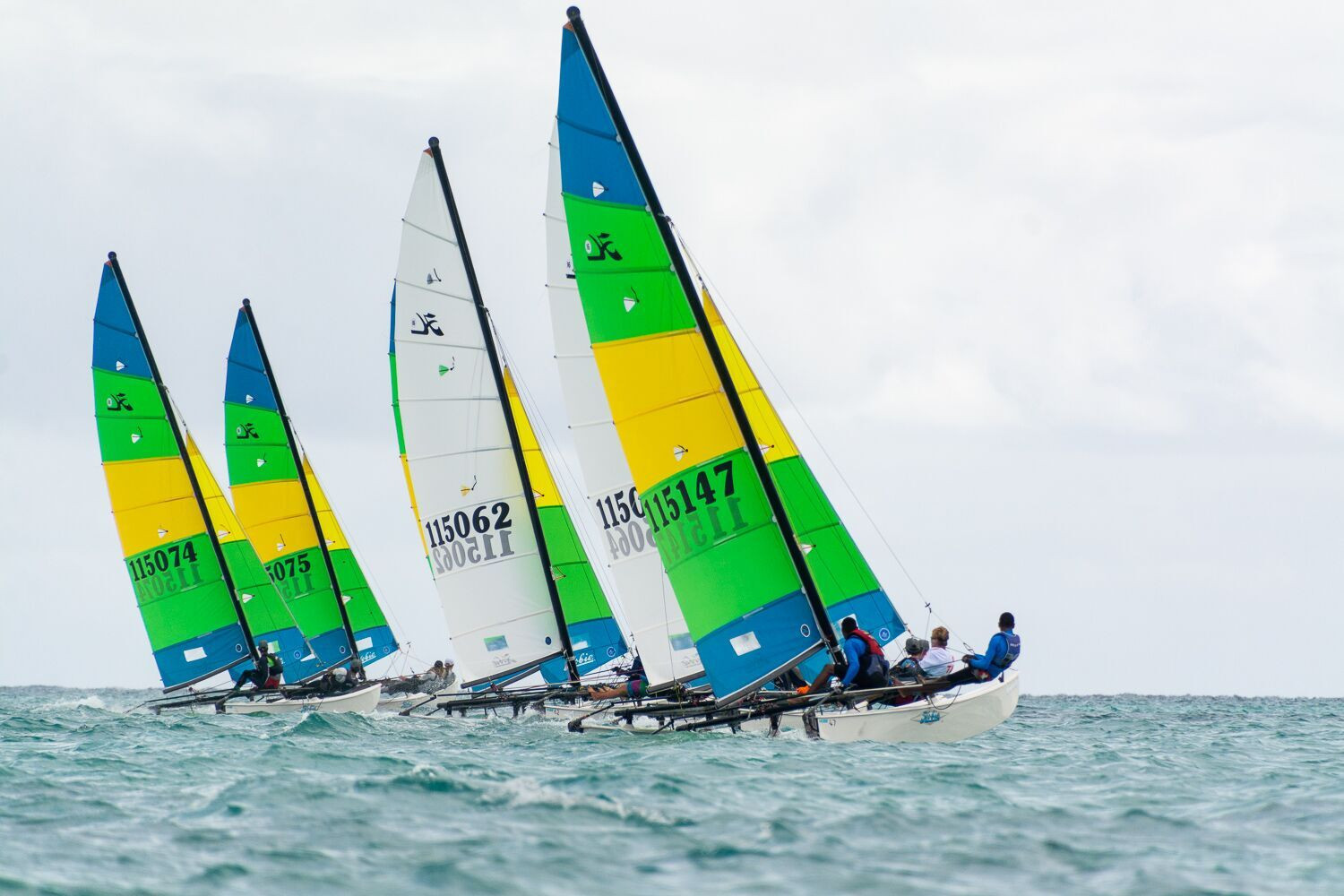 There was plenty of action on the water as sailing nears its conclusion at these Games ©Samoa 2019
