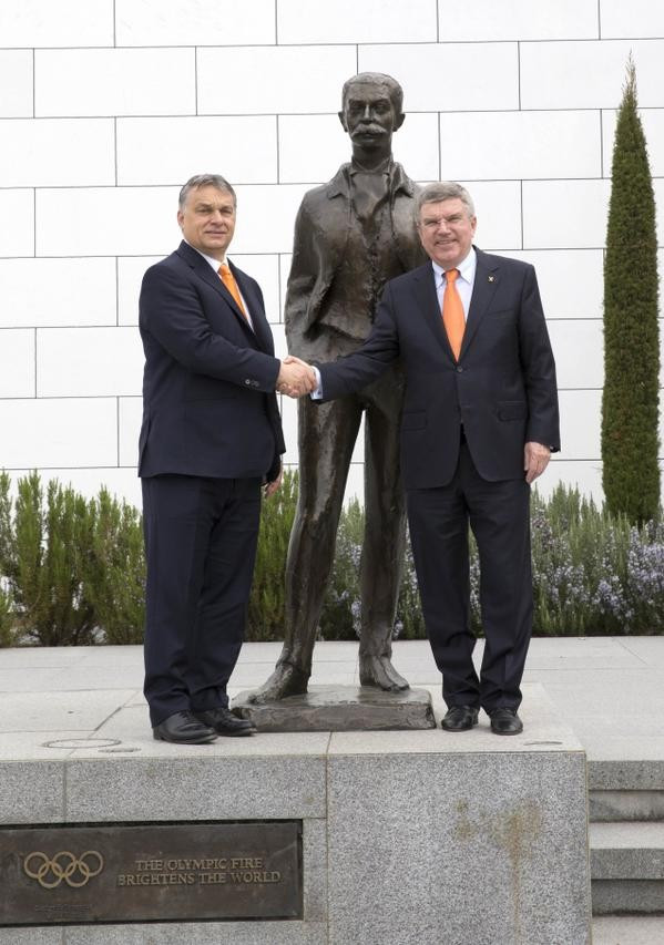 Hungarian Prime Minister Viktor Orbán met with IOC President Thomas Bach in Lausanne last month ©IOC