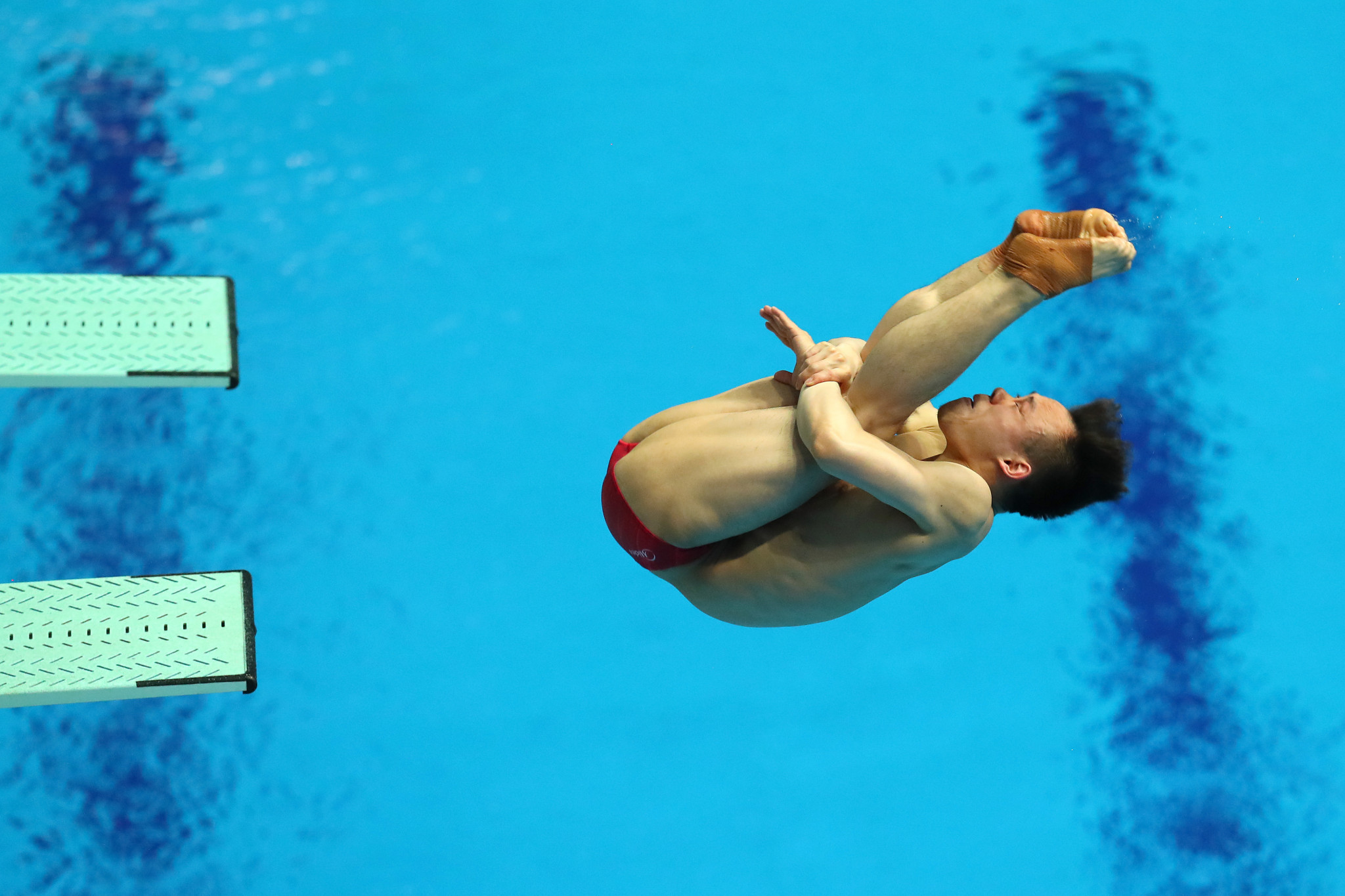 Xie Siyi won gold after a mistake by Britain's Jack Laugher to keep China's diving domination intact ©Getty Images