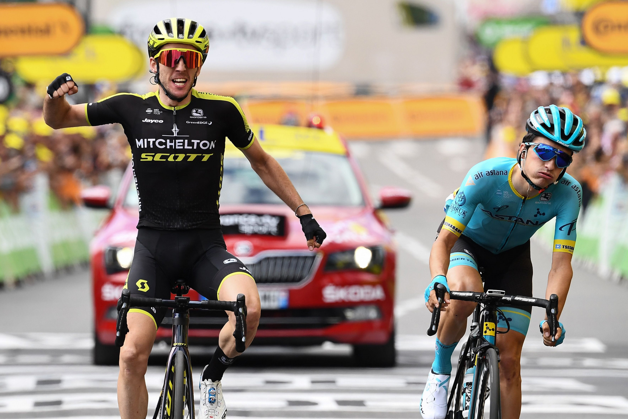 Yates sprints to first Tour de France stage victory as Alaphilippe remains in yellow
