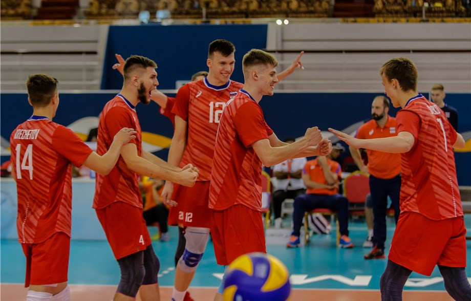 Record winners Russia began with victory over Czech Republic ©FIVB
