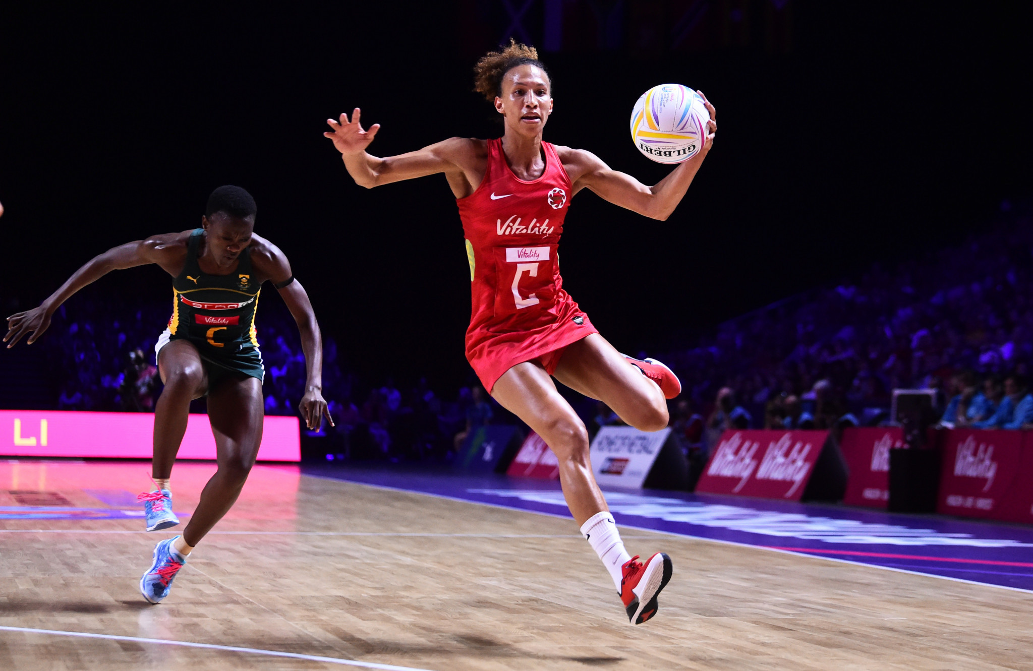 Hosts England secured first place in Group G with a 58-47 win over South Africa ©Getty Images