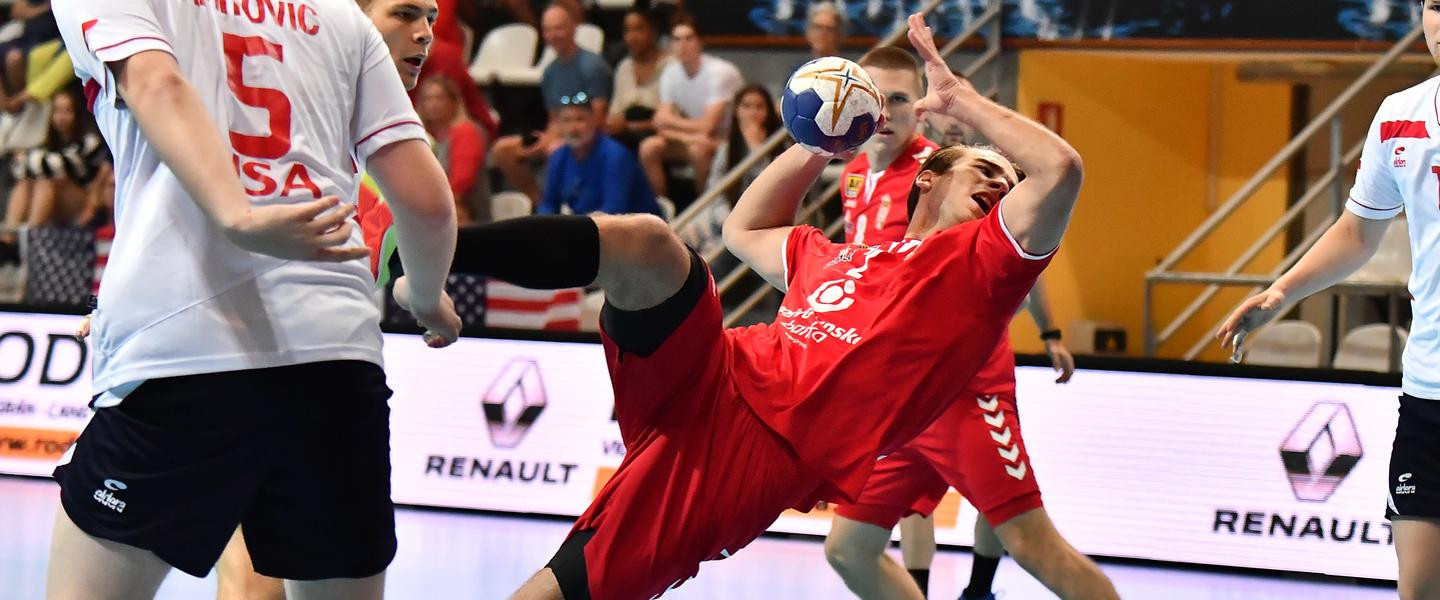 Serbia started slowly against the United States at the  Men's Junior World Handball Championship in Vigo but finished impressively to record their second victory ©IHF