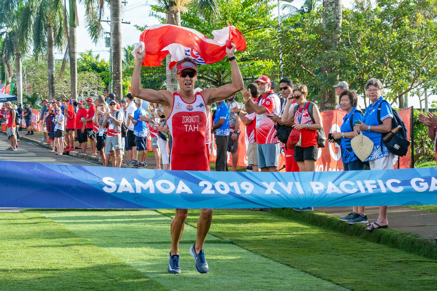 In the first ever Pacific Games aquathlon competition, both the men's and women's races were won by Tahiti ©Games News Service