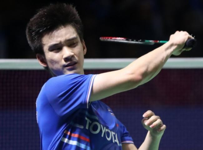Kantaphon Wangcharoen of Thailand has enjoyed a dream run to the semi-finals of the Badminton World Federation Indonesia Open in Jakarta ©BWF
