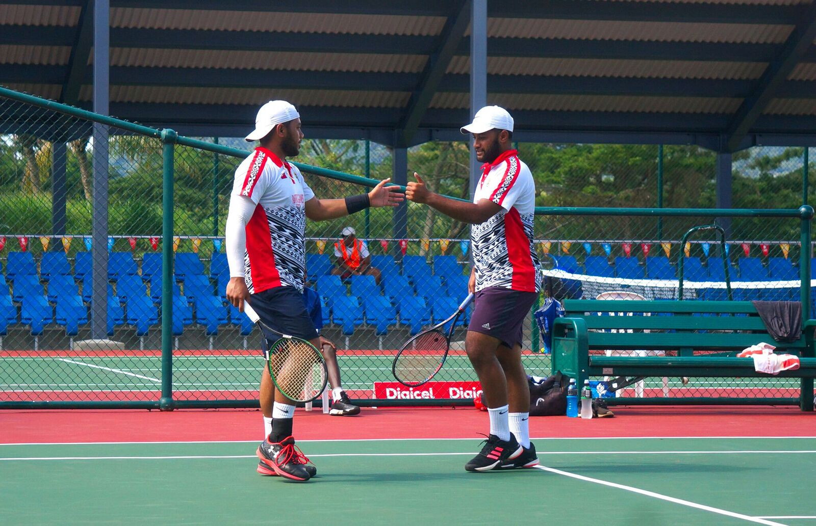 Tonga earned a gold medal in the men's doubles tennis ©Games News Service