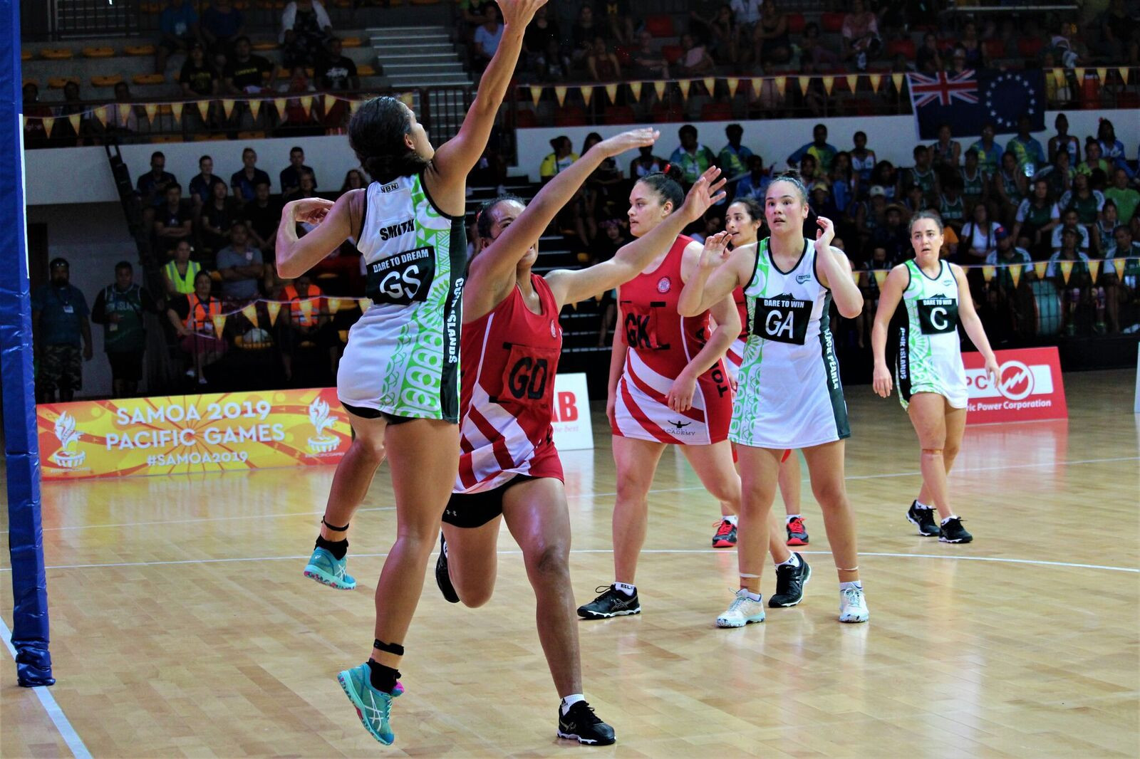 Cook Islands and Tonga played out a classic final in the netball ©Games News Service