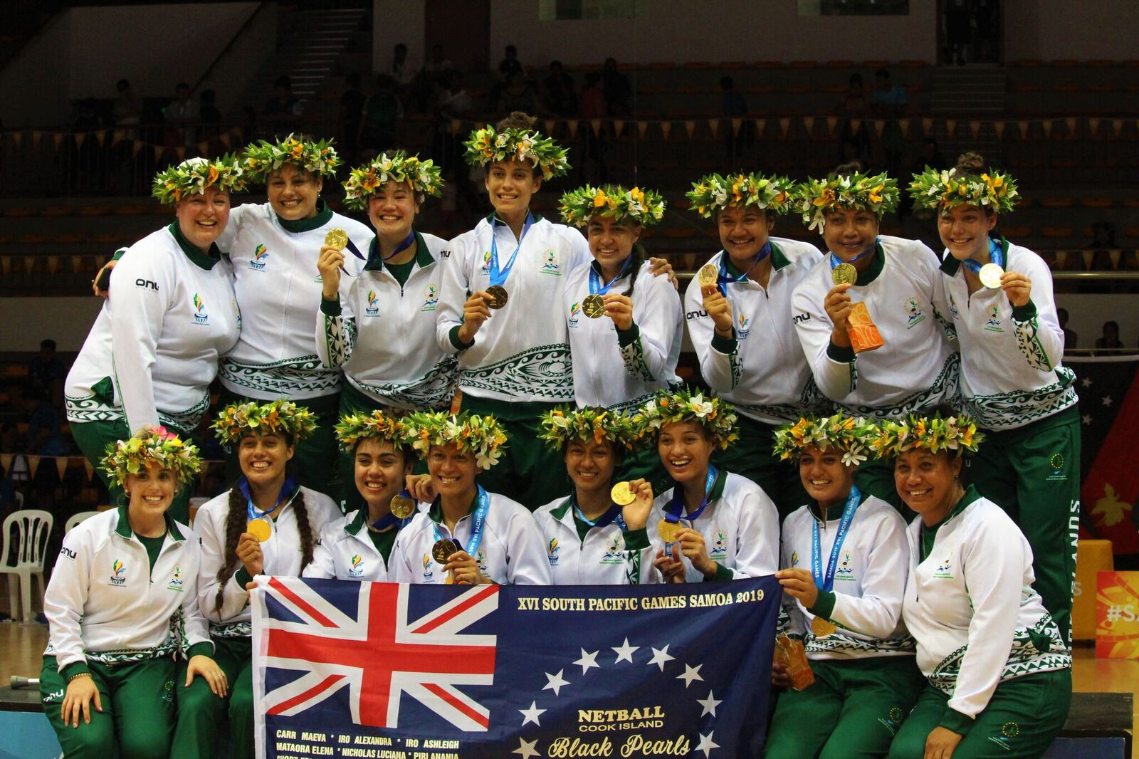 Cook Islands won 44-43 to earn their first netball gold medal since 1991 ©Games News Service