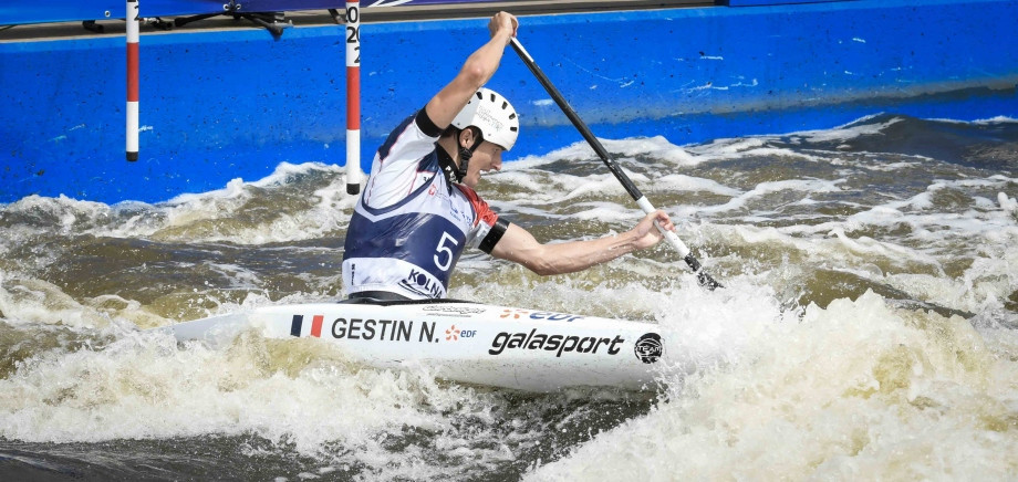 France's Nicolas Gestin triumphed in the men's C1 under-23 competition ©ICF