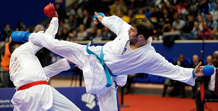 Iran, Japan and Uzbekistan shine in kumite preliminaries at Asian Karate Championships
