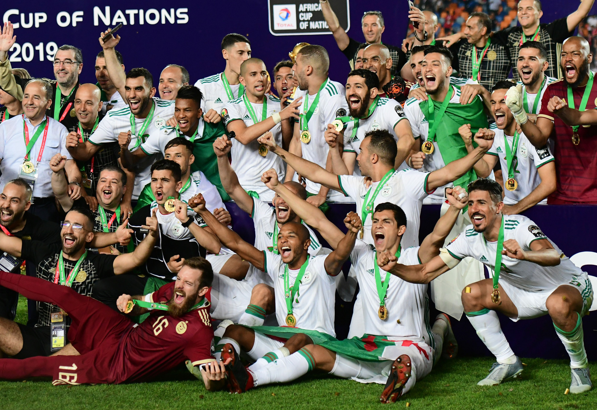 Algeria won the Africa Cup of Nations for the second time ©Getty Images