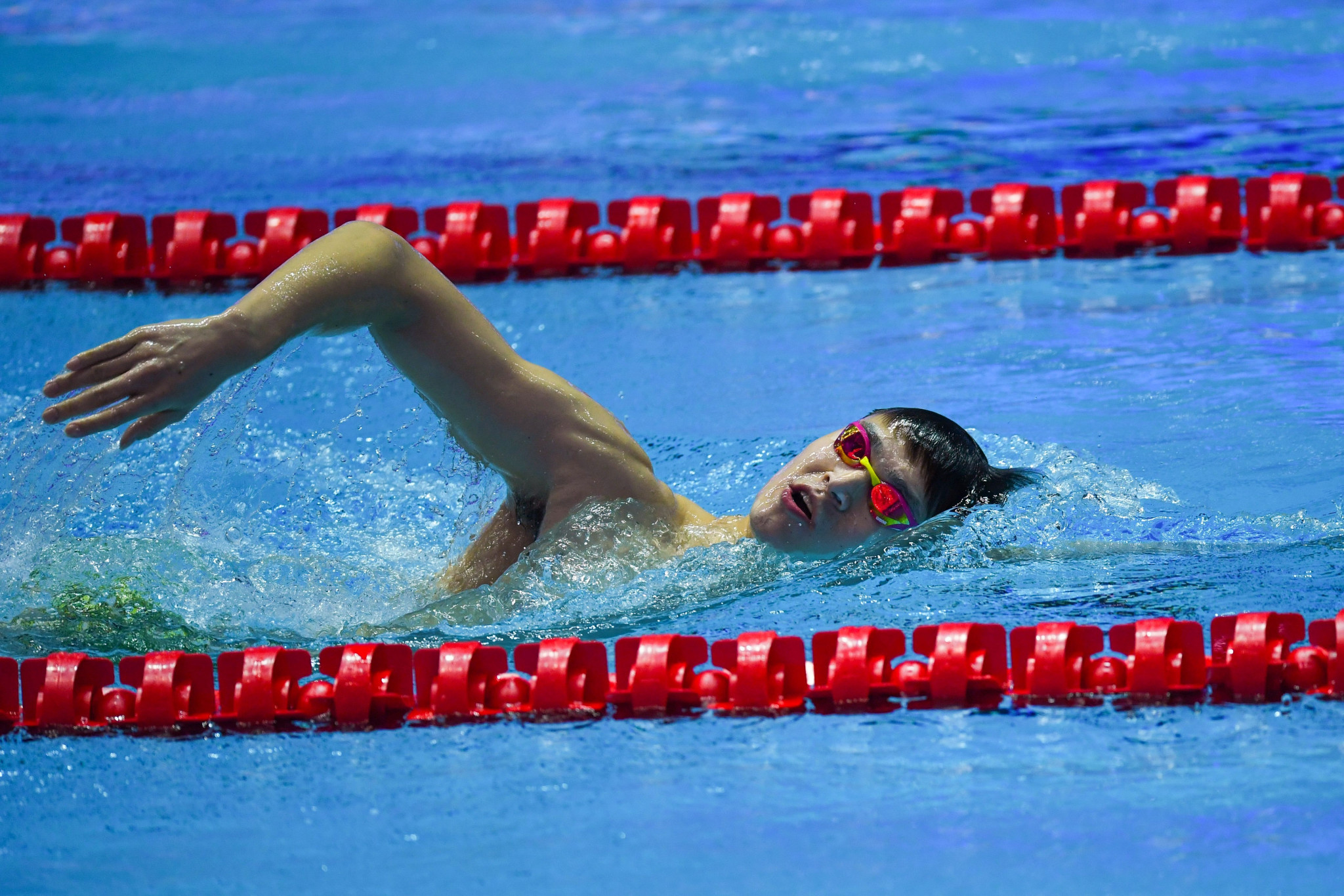 The International Swimming Federation issued China's Sun Yang with a warning after the controversial swimmer allegedly smashed a blood sample during a doping test earlier this year ©Getty Images