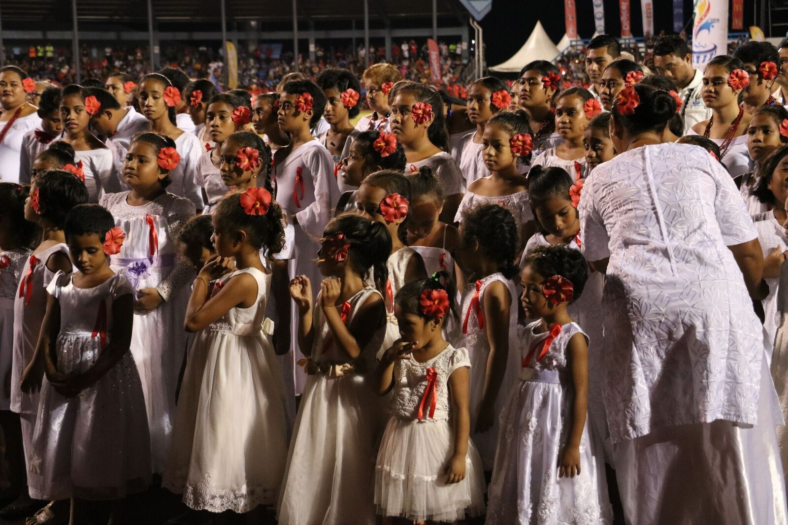 The Closing Ceremony featured plenty of pageantry including thousands of students and schoolchildren performing ©Games News Service