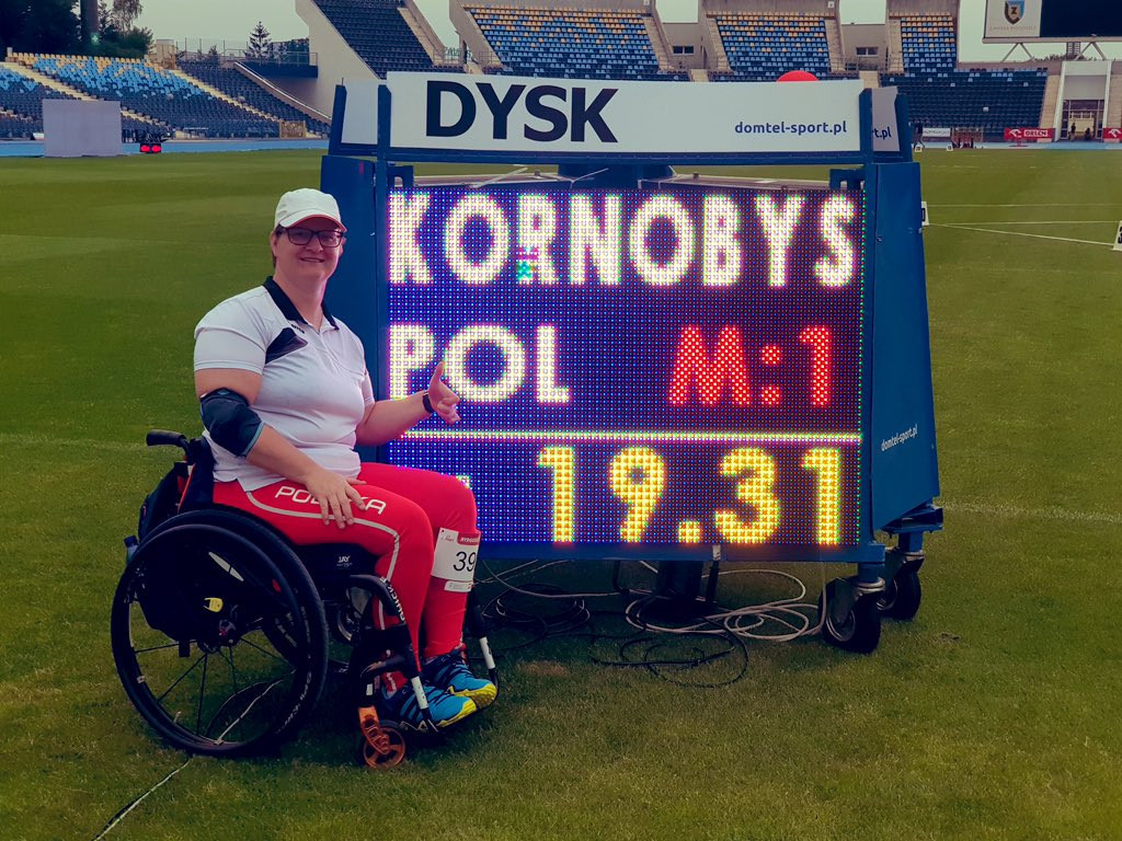 Kornobys breaks world record to win gold at World Para Athletics Grand Prix