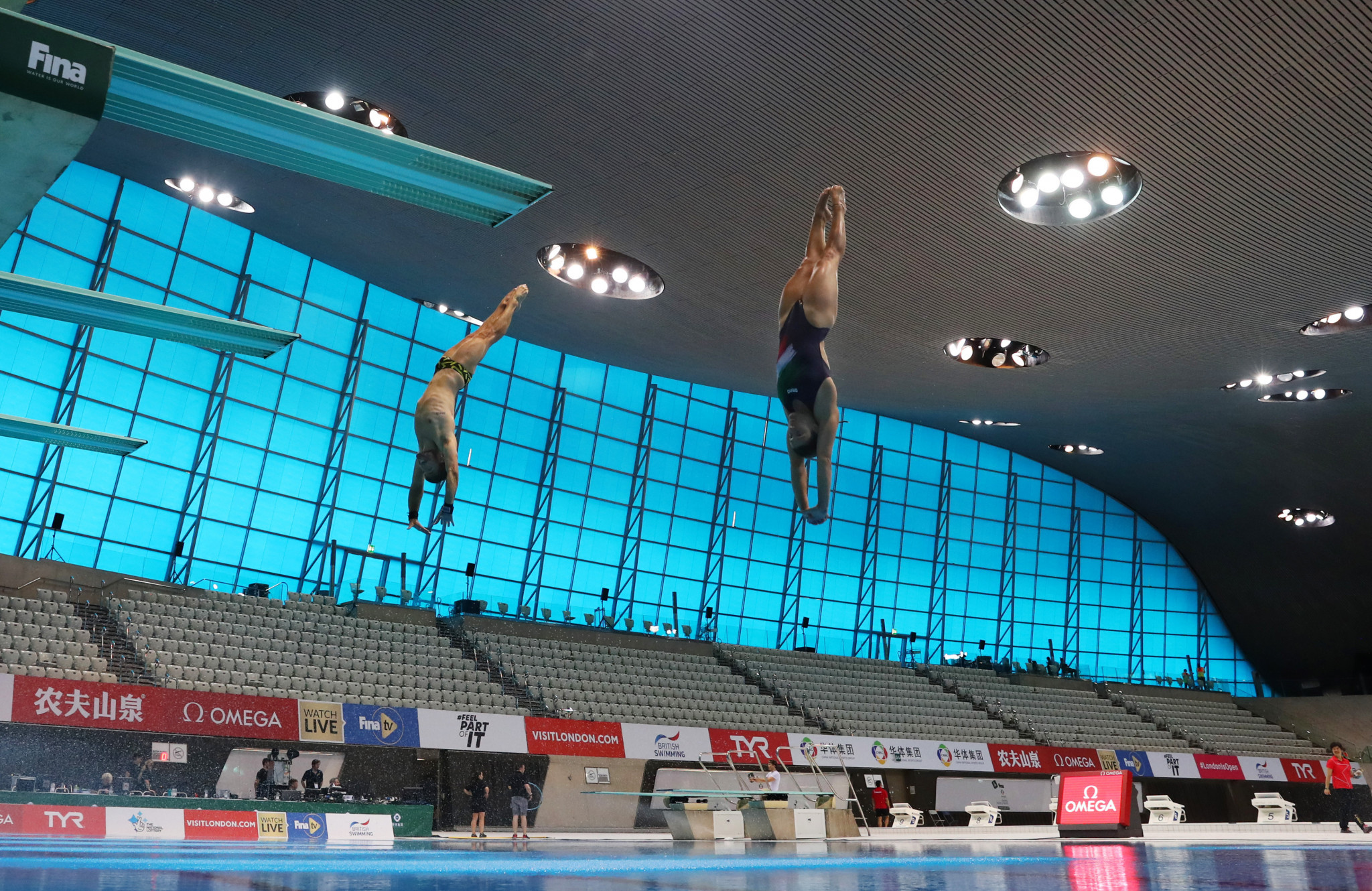 London Aquatics Centre staged the three-day International Swimming Federation's Diving World Series in May ©Getty Images