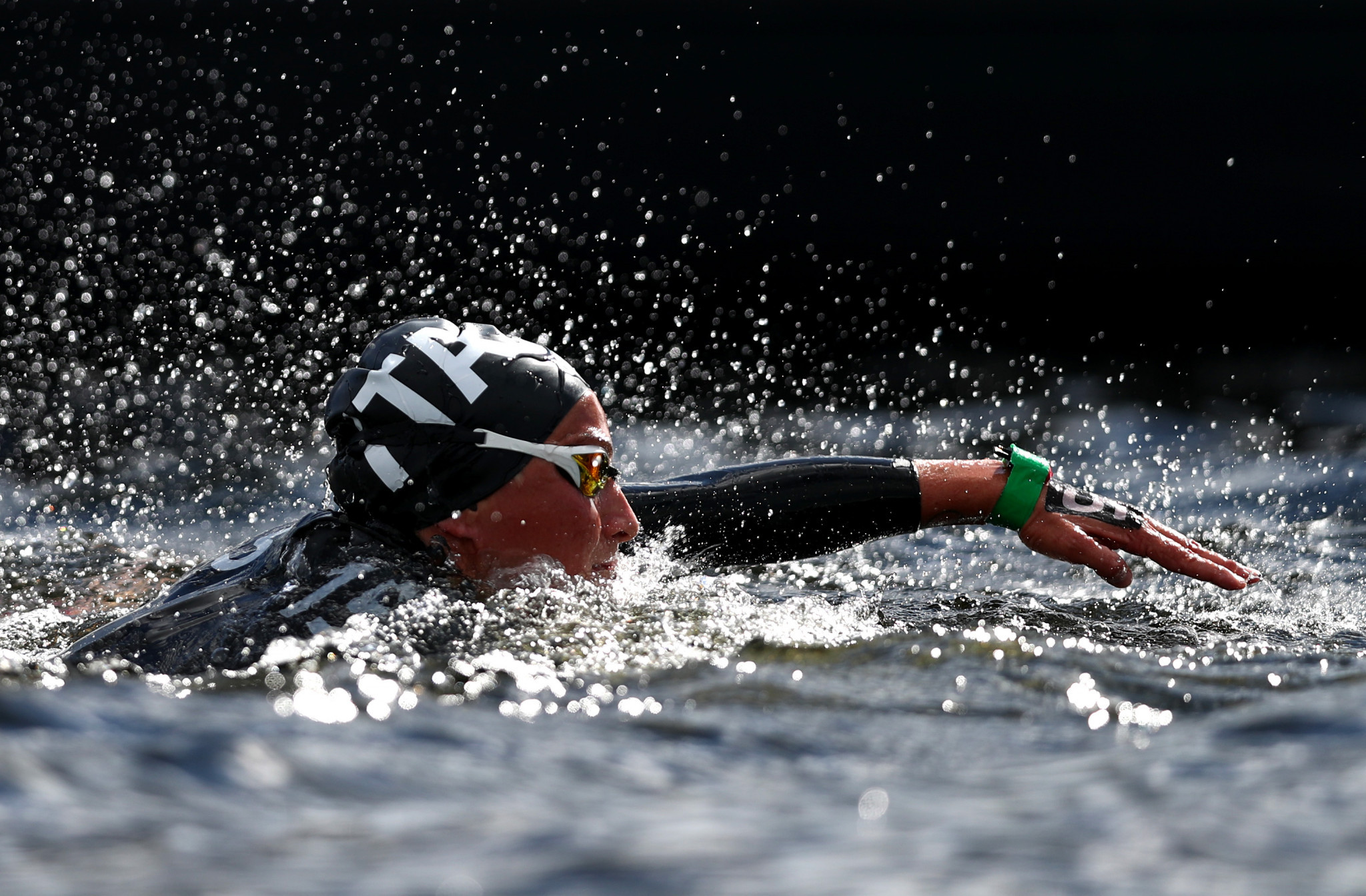Italy's Rachele Bruni is making the journey from South Korea to the FINA Marathon Swim World Series in Canada ©Getty Images