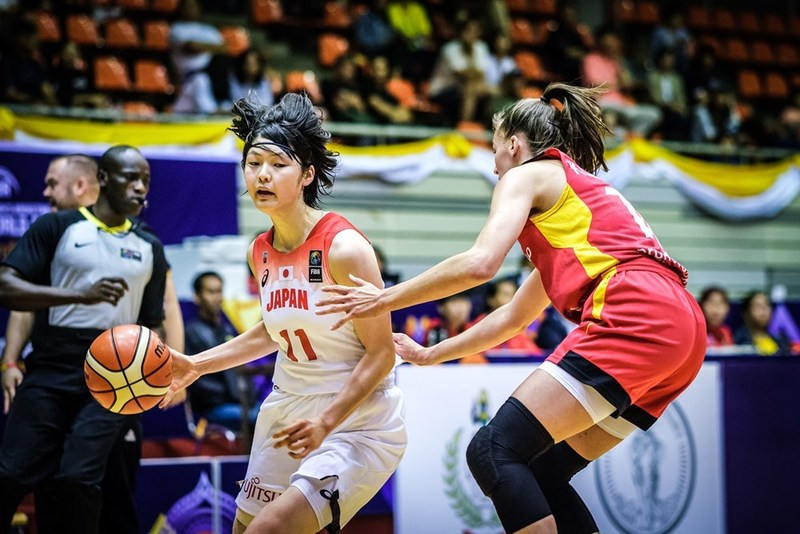 Japan beat Germany, one of the four top seeds, in their opening group match at the FIBA Women's Under-19 World Cup in Bangkok today ©FIBA