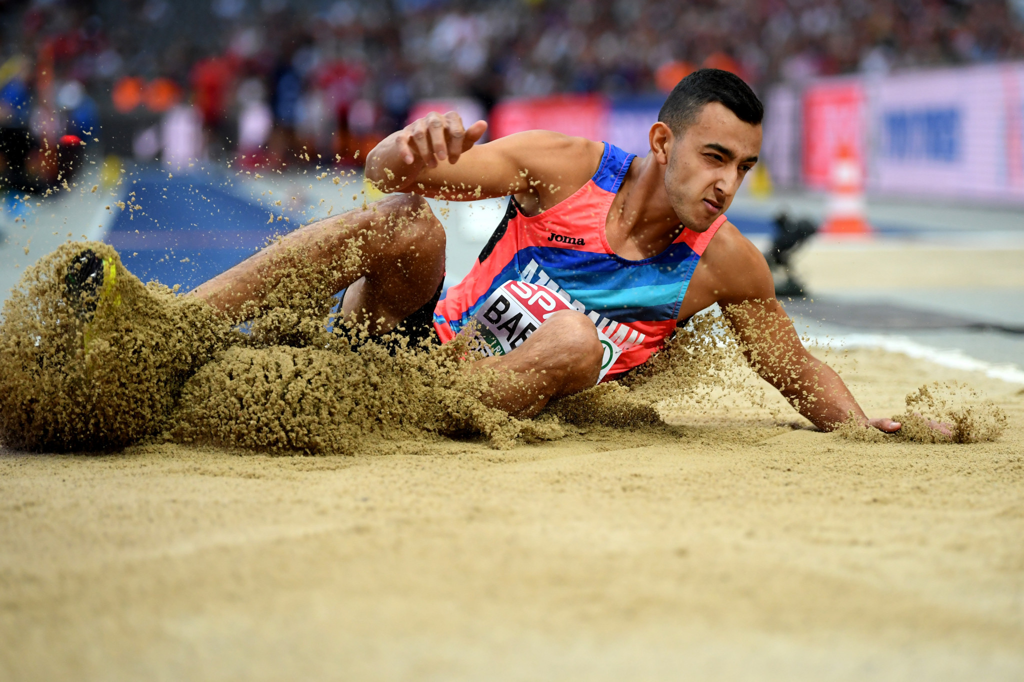 Nazim Babayev won the triple jump event at the Naples 2019 Summer Universiade ©Getty Images