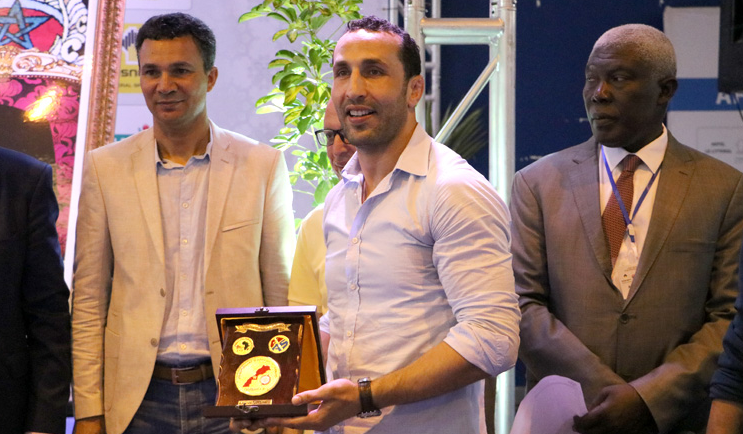 Maroune Oulhaj was last month honoured for his contribution to sambo in Morocco ©FIAS