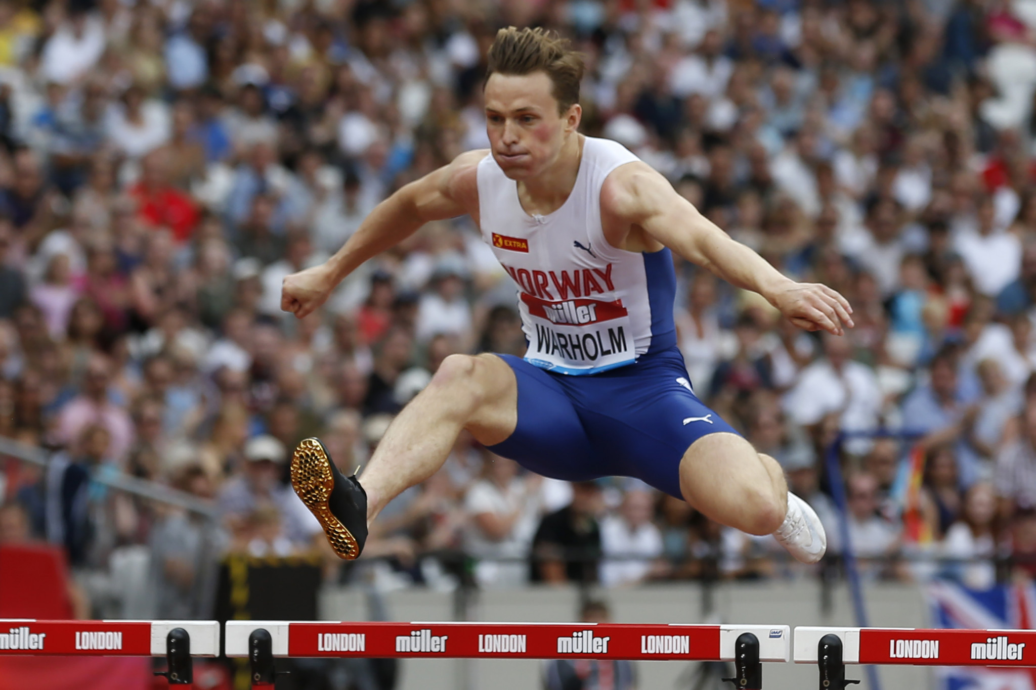 Warholm lowers his European 400m hurdles record on first day of London Diamond League meeting