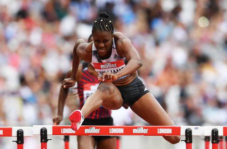 Jamaica's 2015 world champion Danielle Williams won on the first day of the IAAF Diamond League meeting in London in a national record of 12.32sec ©Getty Images