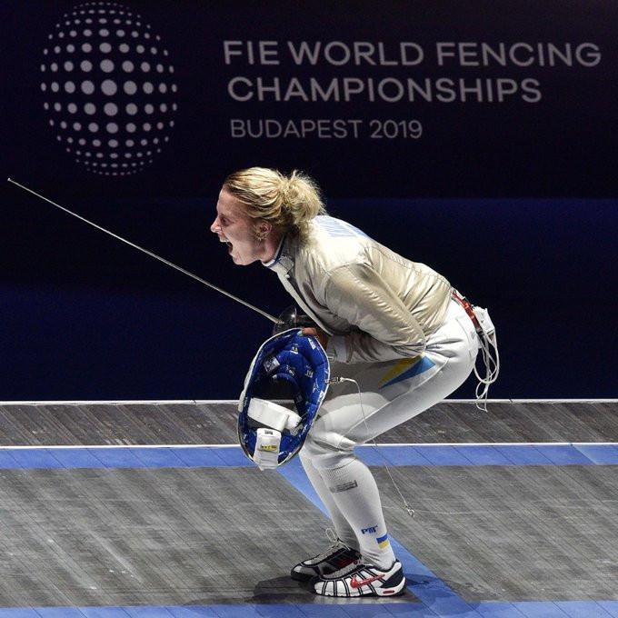 Olga Kharlan of Ukraine secured her fourth women's sabre title ©FIE