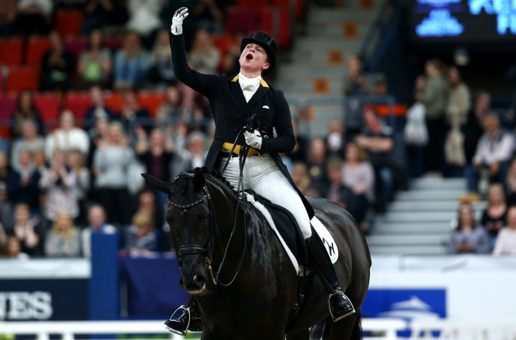 Home rider Isabell Werth picked up a second dressage gold today at the World Equestrian Festival in Aachen, Germany ©CHIO Aachen