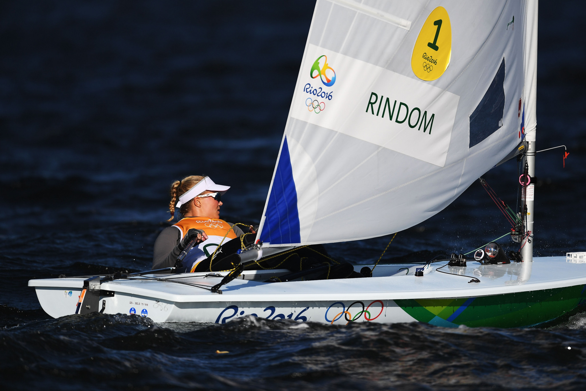 Anne-Marie Rindom of Denmark endured a tough day on the water ©Getty Images