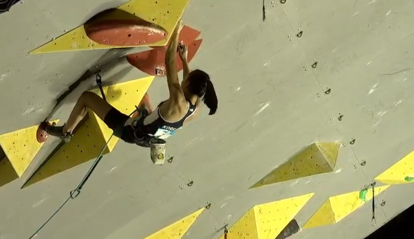 Seo Chae-hyun of South Korea extended her lead at the top of the overall standings by winning the women's final ©IFSC