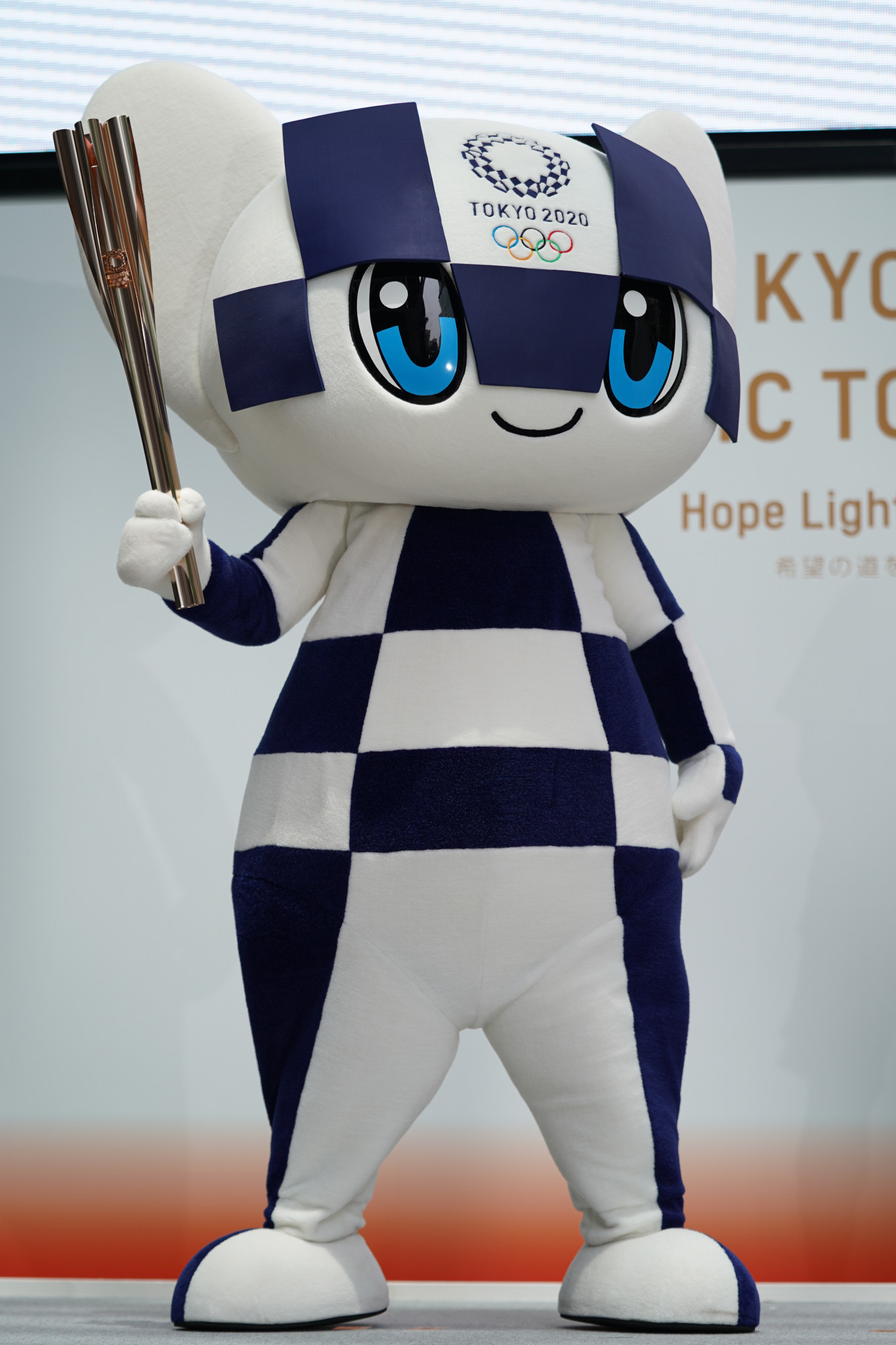 Tokyo 2020 Olympic mascot Miraitowa will become a familiar sight ©Getty Images