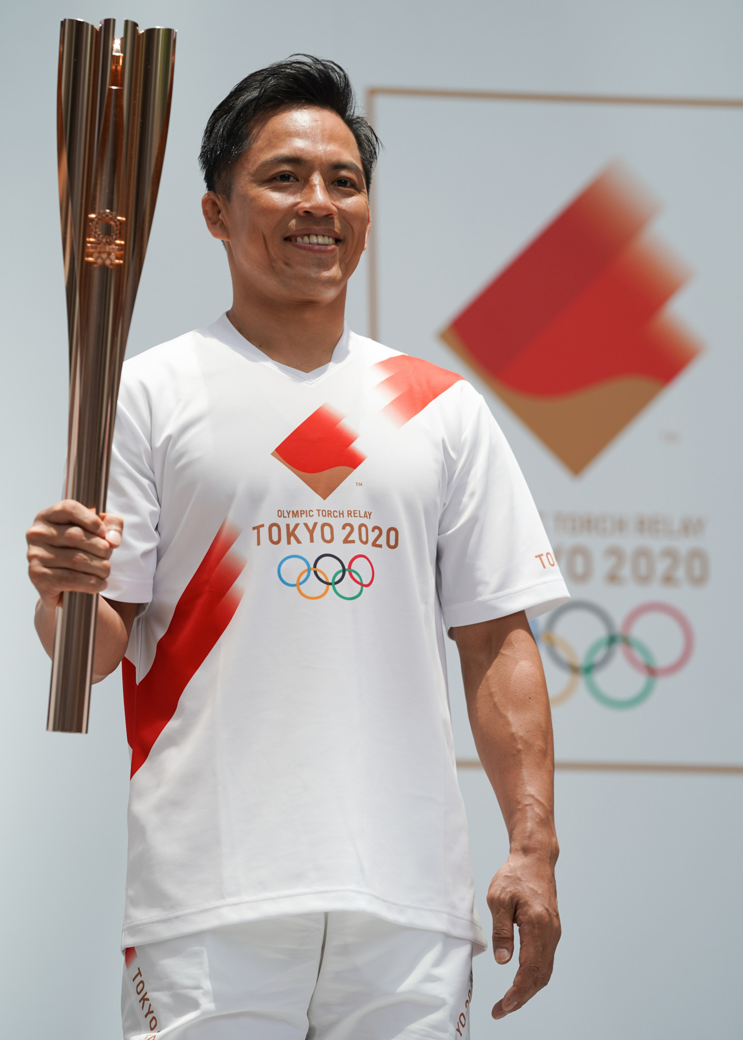 Japan's three-times Olympic judo champion Tadahiro Nomura is an ambassador for the Tokyo 2020 Torch Relay, and was also on the selection panel to choose the best design for next year's medals ©Getty Images