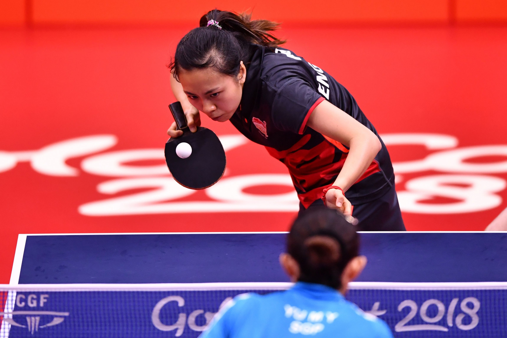 Three-times Commonwealth Games medallist Ho Tin-Tin of England reached the semi-finals of the women's singles event ©Getty Images