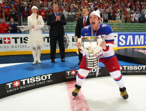 Moscow native Alex Ovechkin has scored 1,211 points in 1,084 career games for the Washington Capitals ©IIHF